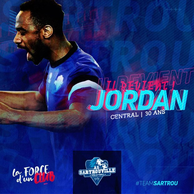 Jordan retourne a AS Sartrouville Volley-ball